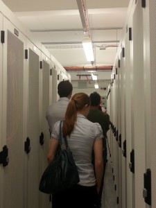 Getting a tour of the data centre