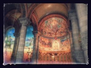 Inside the Temple Expiatori del Sagrat Cor (lower church)