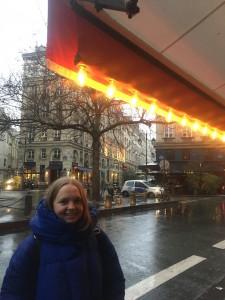 Me exploring in my beloved giant 'duvet coat'. Paris v rainy at the moment.